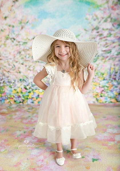 Painted Garden Photography Backdrop Spring Photo Props
