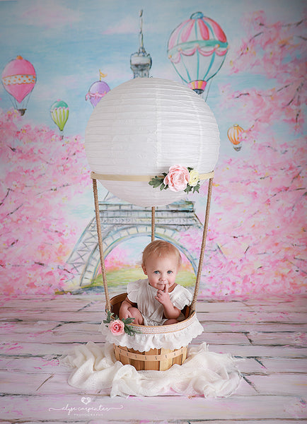 Paris Photography Backdrop Background Spring Photo Props