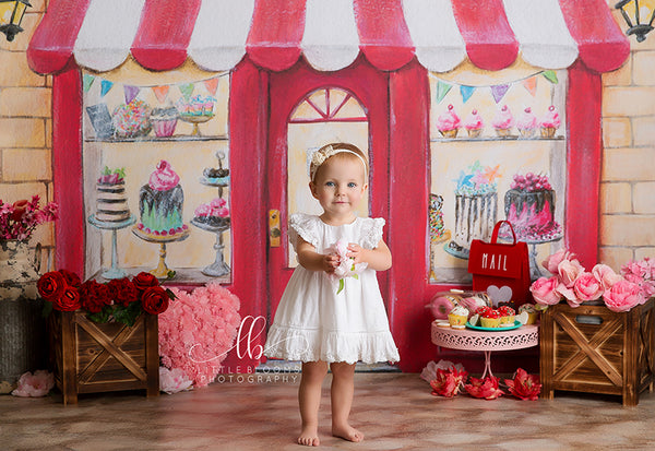 Sweet Shop Bakery Photography Backdrop