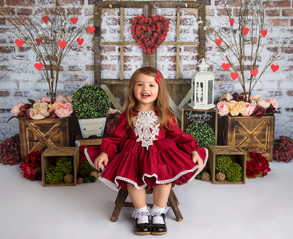 Queen of Hearts Valentine's Day Photography Backdrop for Mini Sessions