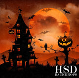 haunted halloween backdrop