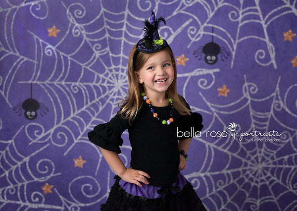 Spider web Halloween Photography Backdrops