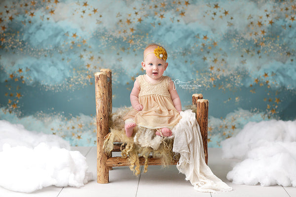Clouds and Stars Photography Backdrop Baby Photo Props