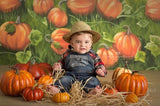 pumpkin field halloween backdrop