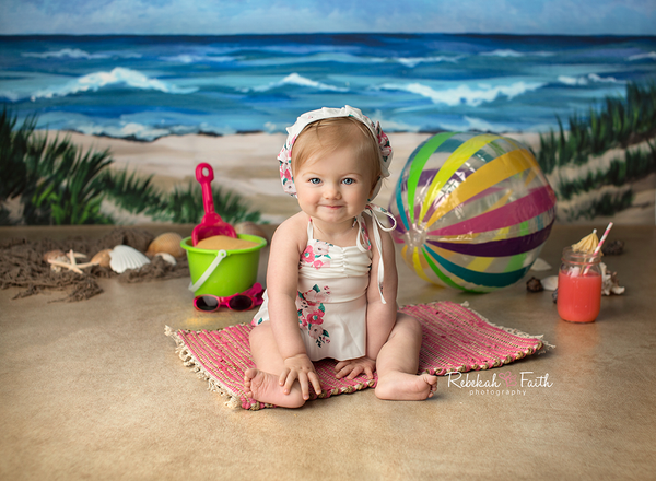 Beach Photography Backdrop Summer Photo Props Baby