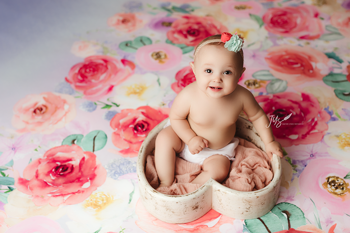 Floral Photography Backdrop Background | Braelynn
