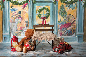 Newborn Digital Backdrop | All I Want for Christmas - HSD Photography Backdrops