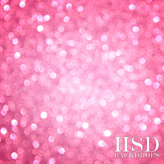 Bubblegum Pink Bokeh - HSD Photography Backdrops