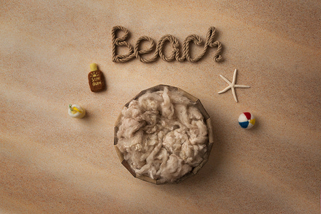 Beach Basket | Beach Day Coll. | Digital photography backdrop & background