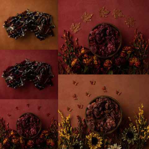 Digital Backdrop | Blooming Autumn Collection