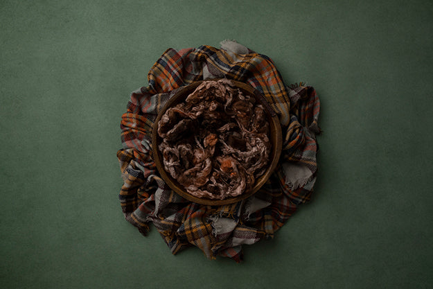 Bundled Up Green | Autumn Plaid Coll. | Digital - HSD Photography Backdrops