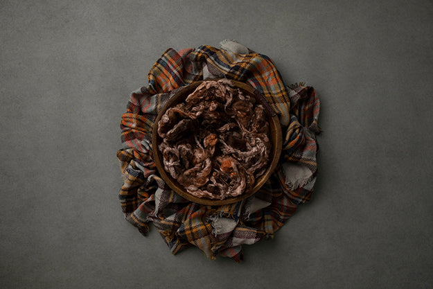 Bundled Up Grey | Autumn Plaid Coll. | Digital - HSD Photography Backdrops