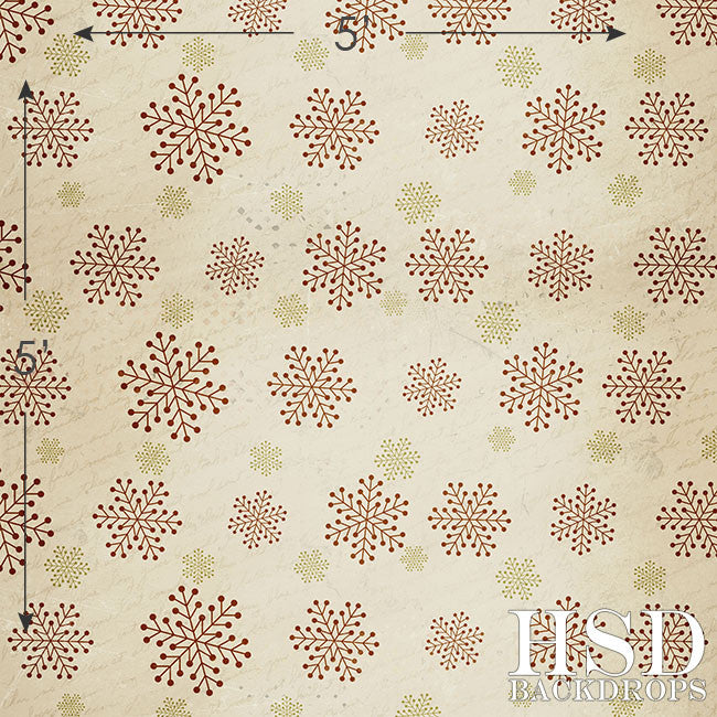 Christmas | Vintage Snowflakes - HSD Photography Backdrops