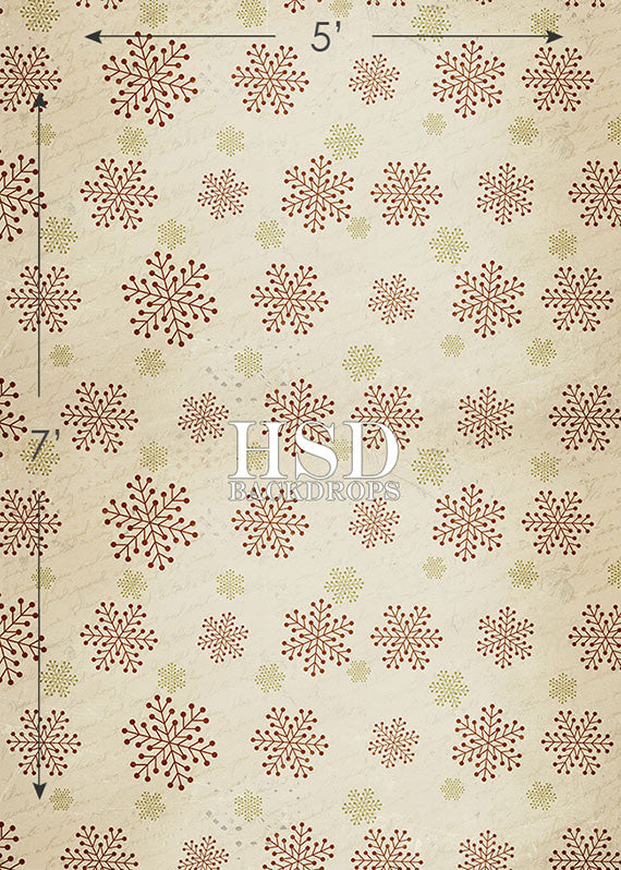 Christmas | Vintage Snowflakes photography backdrop & background