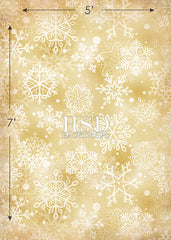 Holiday Photography Backdrop | Gold Snowflakes