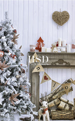 Photography Backdrop | Shabby Chic Christmas