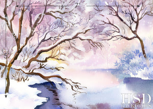 Winter Scene photography backdrop & background