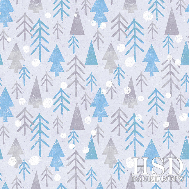Frosty Forest photography backdrop & background