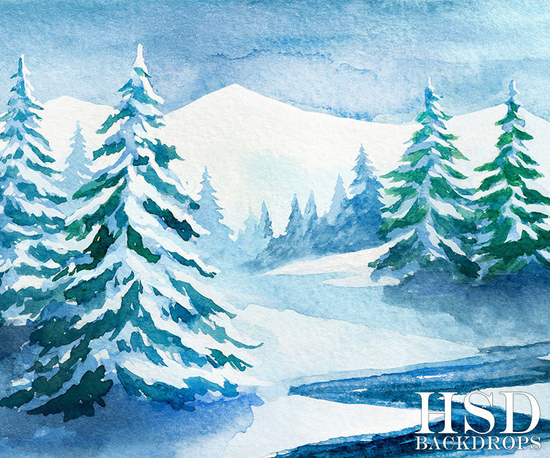 Winter | Aspen - HSD Photography Backdrops