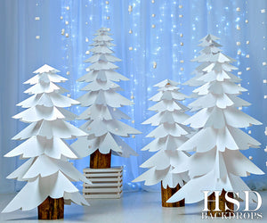 Paper Trees Blue photography backdrop & background