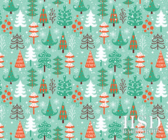 Winter Photography Backdrop Background | Christmas Tree Lot