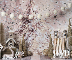 Holiday Photography Backdrop | Oh Christmas Tree Set Up