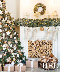 Photography Backdrop | Rustic Chic Christmas