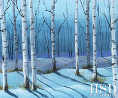 Photography Backdrop Background | Winter Birch Trees