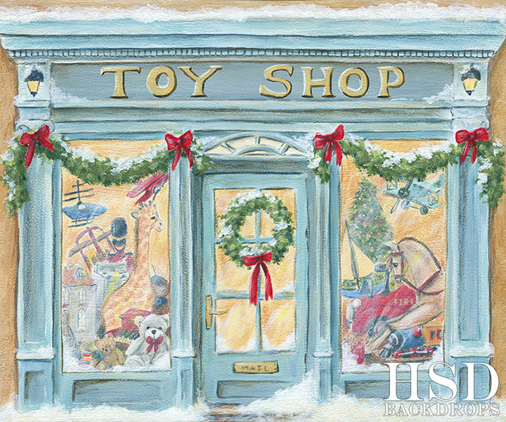 Christmas Toy Shop - HSD Photography Backdrops