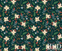 Winter Photography Backdrop | Christmas Floral