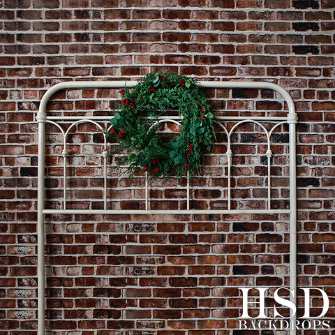 Christmas Photography Backdrop | Christmas Wreath Headboard