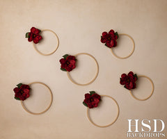 Photography Backdrop | Christmas Floral Hoops