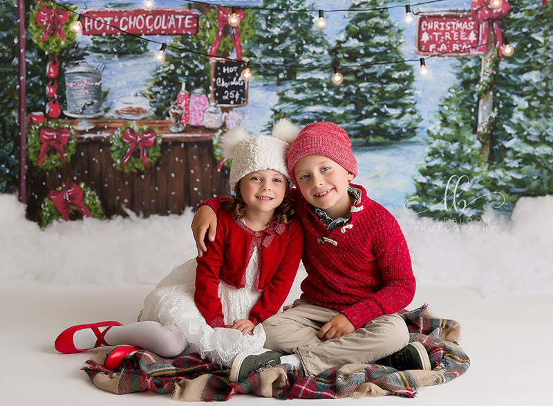 Hot Chocolate Stand photography backdrop & background
