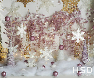 Sugar Plum Princess Christmas Prop Set Up - HSD Photography Backdrops