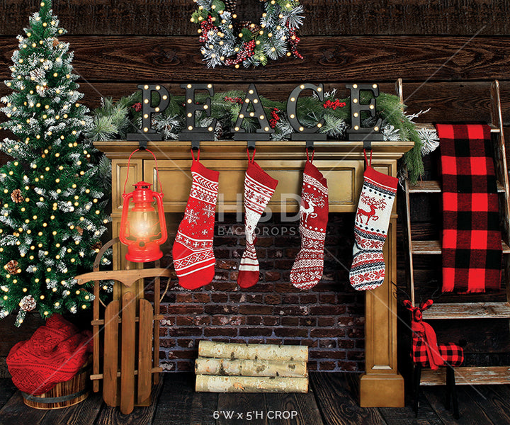 Cozy Cabin (small) photography backdrop & background
