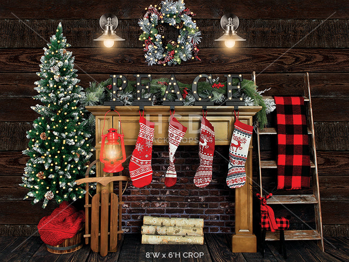 Cozy Cabin (large) photography backdrop & background