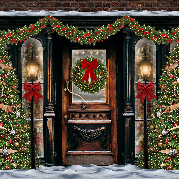 Nostalgic Christmas photography backdrop & background
