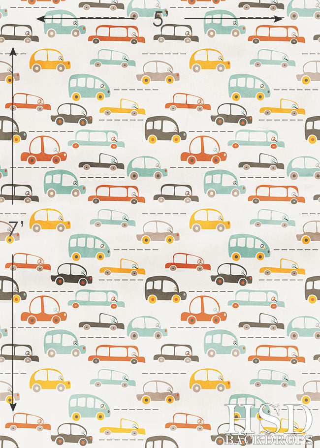 Retro Cars photography backdrop & background