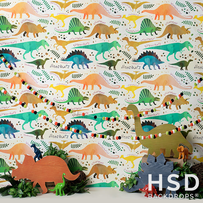 Dinosaur Set Up photography backdrop & background