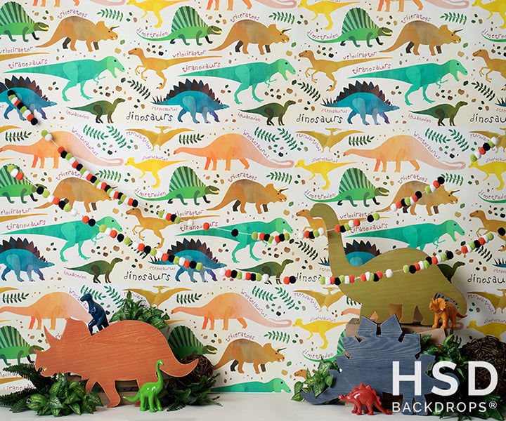 Dinosaur Set Up - HSD Photography Backdrops