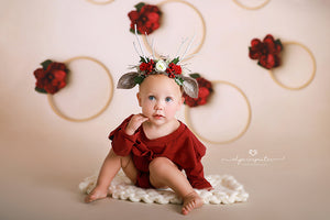 Christmas Floral Hoops photography backdrop & background