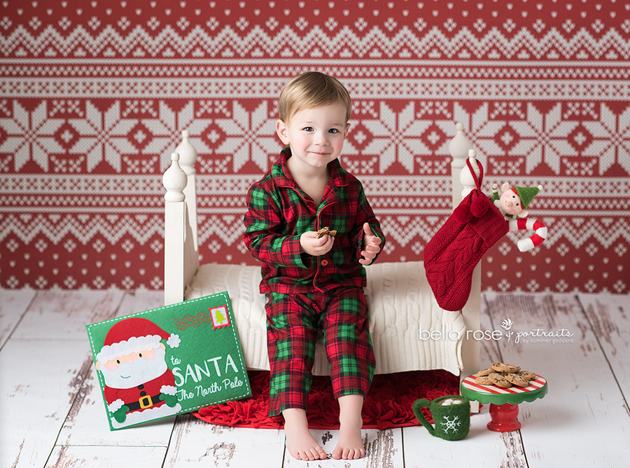 Winter | Christmas Knit photography backdrop & background