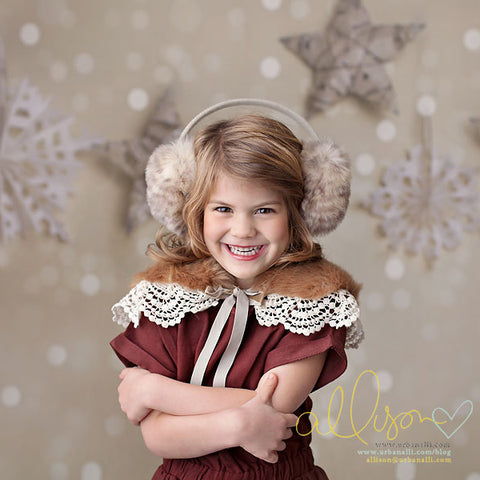 Christmas Photography Backdrop Background | Bokeh Snowflakes