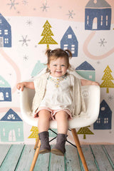 Holiday Photography Backdrop | Winter Village