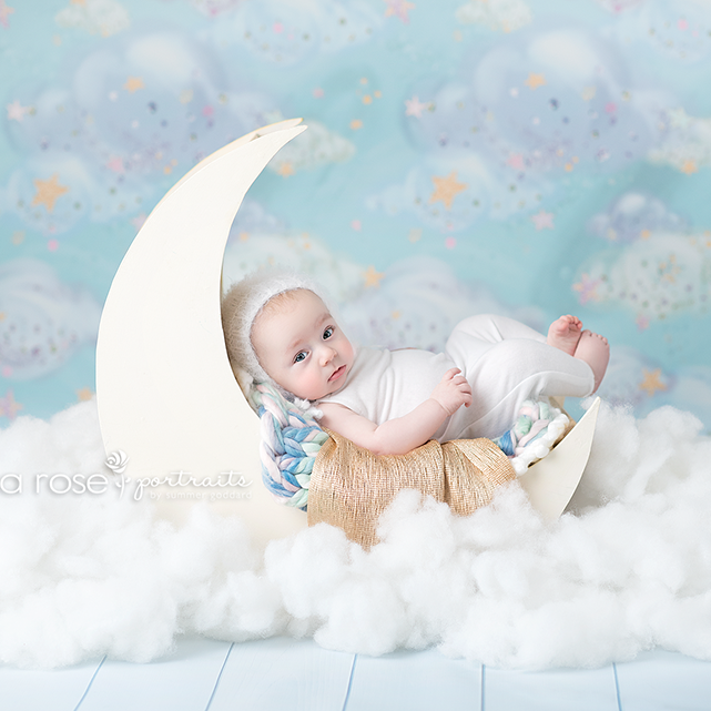 Cotton Candy Clouds photography backdrop & background