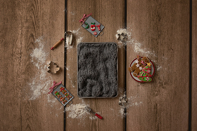Digital Backdrop | Gingerbread Coll. | Cookie Cutters