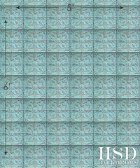 Photography Backdrop | Antique Blue Tin Tile