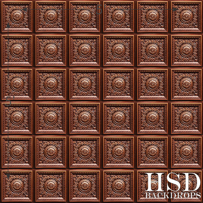 Bronze Tin Tile photography backdrop & background