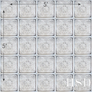 Antique White Tin Tiles - HSD Photography Backdrops