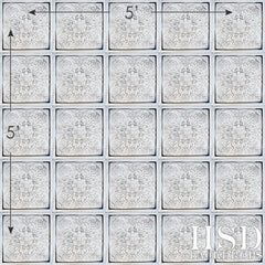 Photography Backdrop | Antique White Tin Tiles